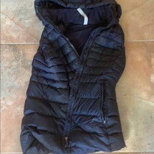 Rare navy blue lululemon vest hood removable 10